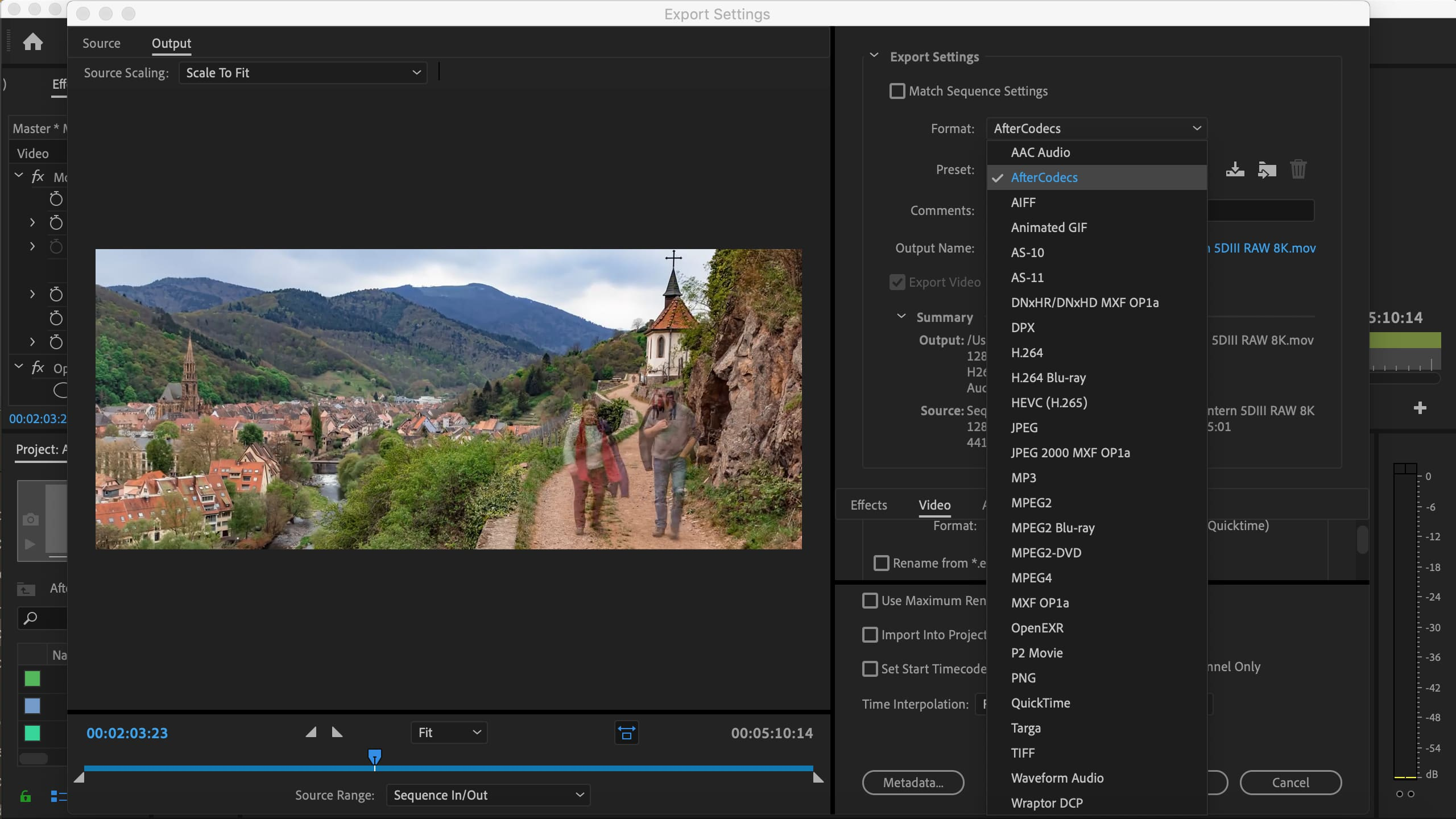 AfterCodecs for Adobe Premiere Pro and Adobe Media Encoder on Mac OSX (Fast exporter plugin screenshot)