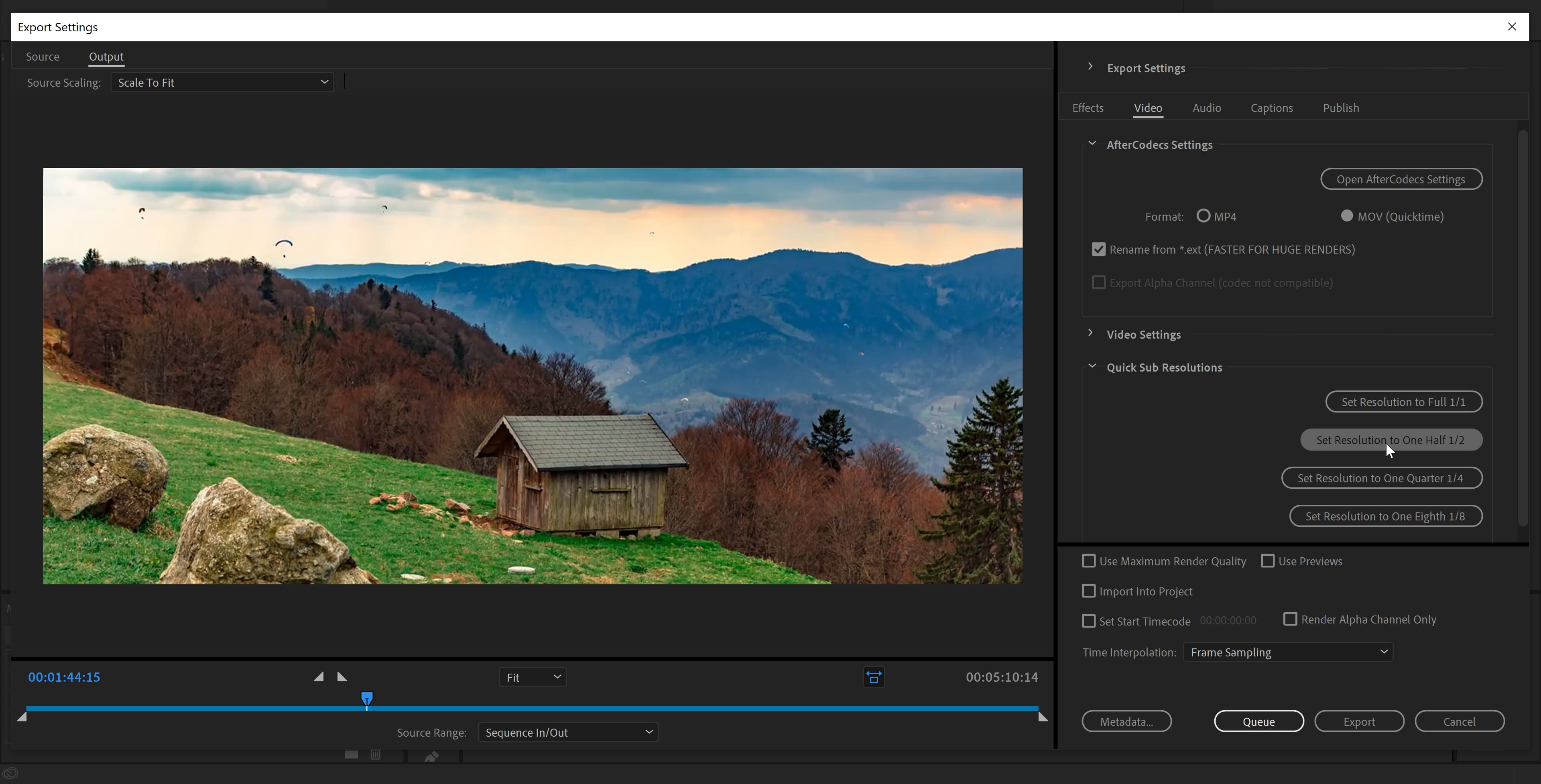 AfterCodecs for Adobe Premiere Pro and Adobe Media Encoder on Microsoft Windows (Fast exporter plugin screenshot)
